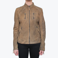 Buffalo Women's Lambskin Genuine Leather Jacket | Overstock.com Shopping - The Best Deals on Jackets