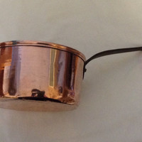 French Vintage Copper Saucepan Pan Pot Circa 1930s