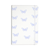 "Jennifer Rizzo ""Many Lavender Butterflies "" Purple White Everything Notebook"