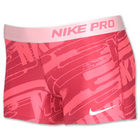 Girls' Nike 3 Inch Pro Core Compression Graphic Printed Shorts