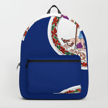 flag virginia,america,usa,south,Dominion,Mother of Presidents,Mother of States,Pocahontas Backpacks by oldking