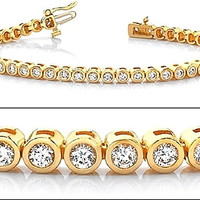 15.60TCW Russian Lab Diamond Tennis Bracelet Holiday Anniversary Birthday Wedding Gift