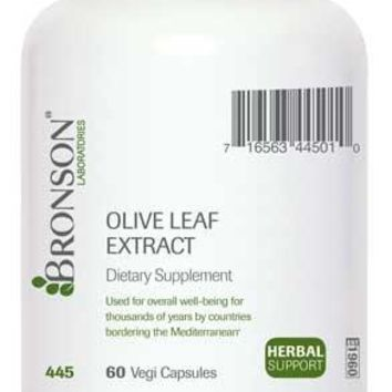 [Pack of 2]  Bronson Olive Leaf Extract 500 mg, 60 Vegi Capsules Each