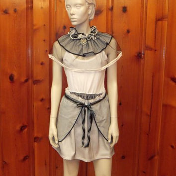 Steampunk  Victorian High Neck Lace Collar / Goth / Diesel Punk / Bustle Skirt / Burlesque / Size Medium
