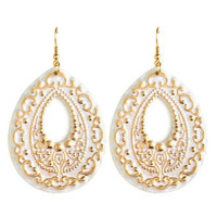 Charlotte Russe - Stamped Teardrop Earrings