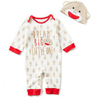 Baby Starters 3-12 Months Sock Monkey Dream Big Little One Coveralls | Dillards