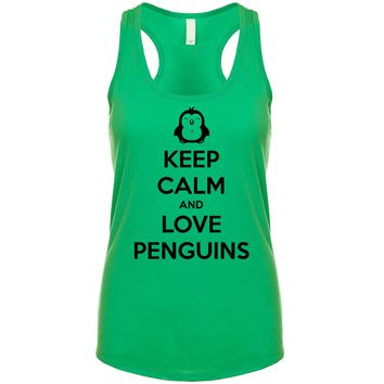 Keep Calm And Love Penguins Women's Tank