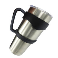 Plastic Handle Rambler Tumbler Cups Secure Holder 30 Oz Stainless Steel Insulated Tumbler Mug