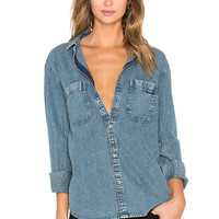 ROLLA'S Button Up Shirt in Washed Blue