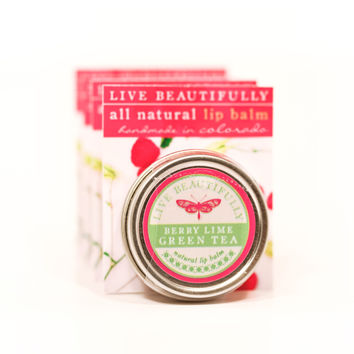 Berry Lime Green Tea - All Natural Lip Balm Tin