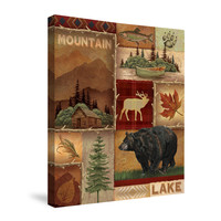 Lodge Collage I Canvas Wall Art