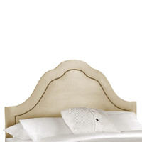 Oatmeal Arch Inset Nail Button Headboard