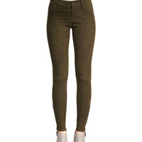 J Brand Jeans Suede Super-Skinny Pants, Camo