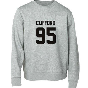 clifford 95 sweater Gray Sweatshirt Crewneck Men or Women for Unisex Size with variant colour