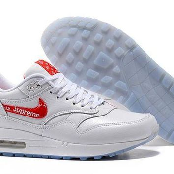 DCCKL8A Jacklish Buy Am1 Supreme X Nike Air Max 1 Custom White Red Bespokeind For Sale