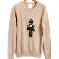 The Nutcracker Front Sweater with Crew Neck