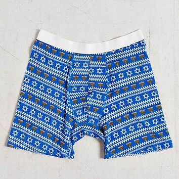 Hanukkah Boxer Brief- Blue Multi