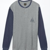 Obey Angle Long Sleeve Henley T-Shirt - Mens Tee