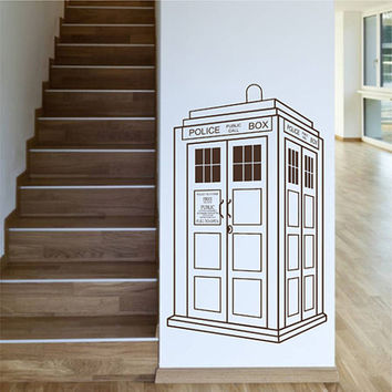 kik2248 Wall Decal Sticker Time Machine Spaceship tardis doctor who living children's bedroom