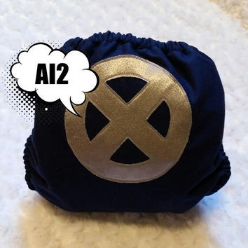 X Men All In Two (AI2) Cloth Diaper - One-Size or Newborn, S, M, L