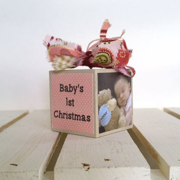 Personalized Baby Ornament - First Christmas Ornament - Baby Christmas Gift for Girl, custom baby ornament