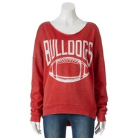 Georgia Bulldogs Burnout Football Sweatshirt - Juniors