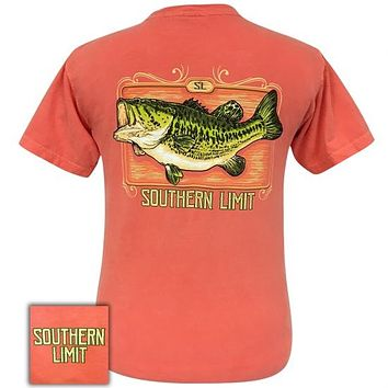 Southern Limits Bass Bright Salmon Unisex Comfort Colors T-Shirt