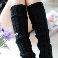 Simplicity Women's Knee High Knitted Leg Warmers