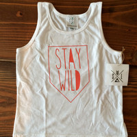 SALE! Stay WILD Tee, Toddler t-shirt, Trendy kids clothes, Hipster kids clothes, child t-shirt, Screen Printed Shirts, Graphic Tee