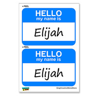 Elijah Hello My Name Is - Sheet of 2 Stickers