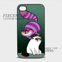 grumpy cat and cat cheshire Plastic Cases for iPhone 4,4S, iPhone 5,5S, iPhone 5C, iPhone 6, iPhone 6 Plus, iPod 4, iPod 5, Samsung Galaxy Note 3, Galaxy S3, Galaxy S4, Galaxy S5, Galaxy S6, HTC One (M7), HTC One X, BlackBerry Z10 phone case design