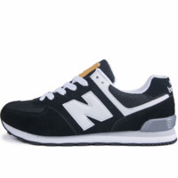 New Balance trend leisure couple models N word sports shoes Black