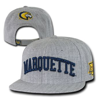 College University Marquette State Hat Sports Baseball Cap WRA 1003
