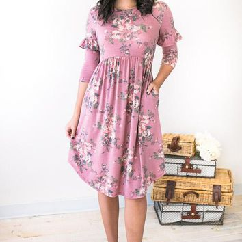 Feeling Pretty Gorgeous Floral Midi Dress