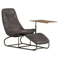 Charcoal Trailblazer Chaise Study Chair