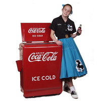 Coca Cola machine from the 30's to 50's