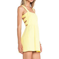 Mason by Michelle Mason Cut Out Mini Dress in Yellow