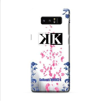 K Project logo floral wht bkg Samsung Galaxy Note 8 case
