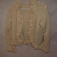 Handmade Crocheted ruffled vest by CanadianCraftCritter on Etsy