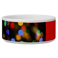 Multicolored Christmas lights. Add text or name. Bowl