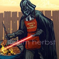$10.00 Darth Vader BBQ  Print by kiwifruitbird on Etsy