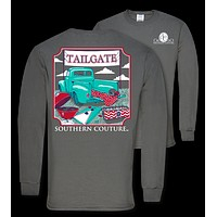 Southern Couture Preppy Tailgate Truck Long Sleeve T-Shirt