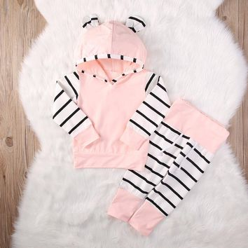 Kids Clothes Cute 2 Piece Cotton Newborn Infant Baby Boy Girl  Arrow Hoodie Tops+Pants Outfits Clothes Set  Spring & Autumn