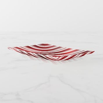 Red Candy Cane Stripes Trinket Trays