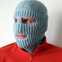 ON SALE - Knit Ski Mask Hat, Balaclava Full Face Ski Mask, Winter Sports Hat, Man Hat, Woman Hat, For Fun, Strange and Unique Ski Mask