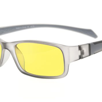 Eyekepper Anti-glare, Anti-reflective, Anti-fatigue, UV and Computer/TV Electromagnetic Radiation Protection, Anti-fog, Scratch Resistant, Anti Blue Light More than 94% Reading Glasses, Yellow Tinted Lens