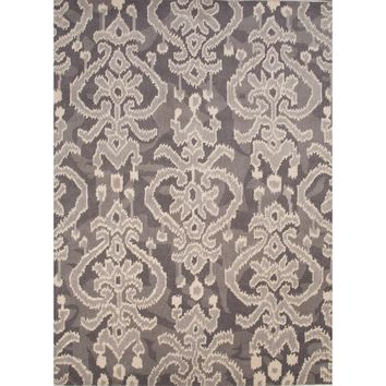 Ikat Medallion Grey Rug