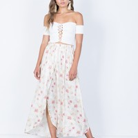 Sweet Floral Maxi Skirt