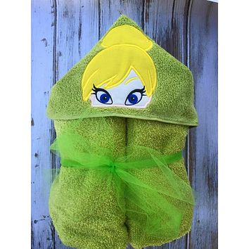 Tinker Bell Hooded Towel