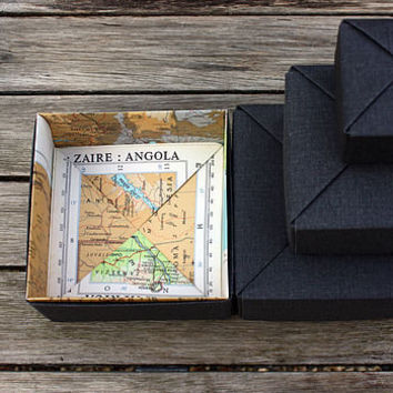Personalised Origami Map Box